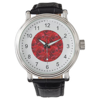 Abstract Center of Red Rose Wallpaper Wristwatches