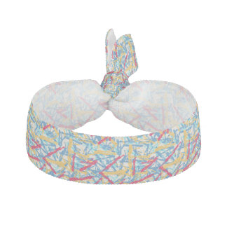 Abstract chalk bright painted pattern elastic hair ties
