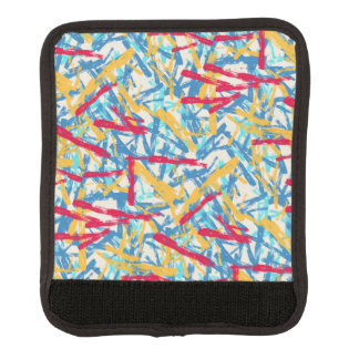 Abstract chalk bright painted pattern luggage handle wrap