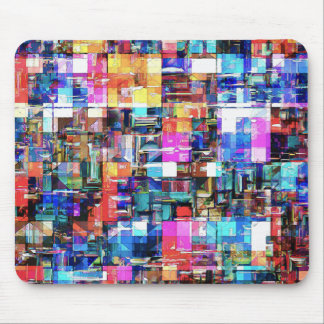 Abstract Chaos of Colors Mouse Pad