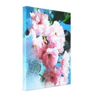 Abstract Cherry Blossom Canvas Print