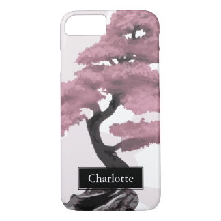 Abstract Cherry Tree Bonsai Custom Name iPhone 8/7 Case