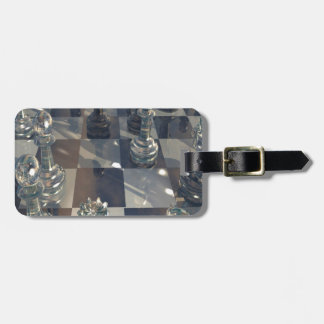 Abstract Chess Glass Board Luggage Tag