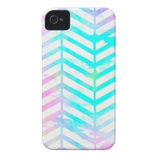 Abstract Chevron Brushstroke Watercolor Case-Mate iPhone 4 Cases