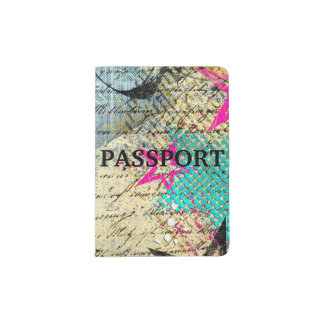 Abstract Chic Design Passport Holder