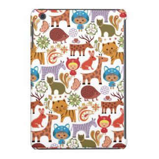 Abstract Child and Animals Pattern iPad Mini Retina Case