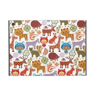 Abstract Child and Animals Pattern iPad Mini Case