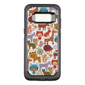 Abstract Child and Animals Pattern OtterBox Commuter Samsung Galaxy S8 Case