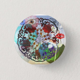 Abstract Chinese Design 1 Inch Round Button