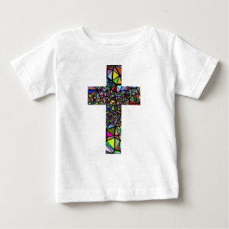 Abstract christmas christ cross baby T-Shirt