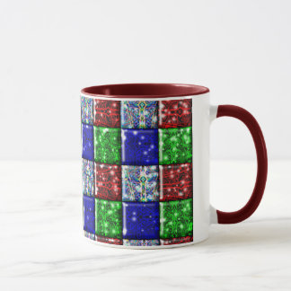 Abstract Christmas mug