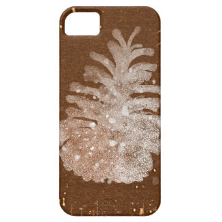 Abstract Christmas Pinecone iPhone 5 Cases