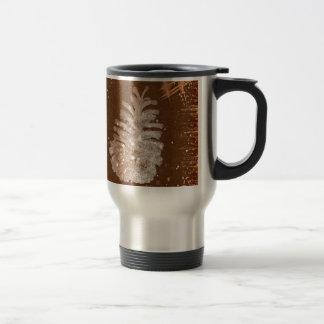 Abstract Christmas Pinecone Travel Mug
