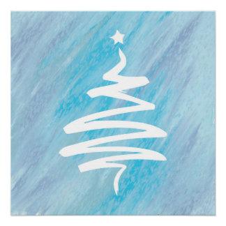 Abstract Christmas Tree Poster