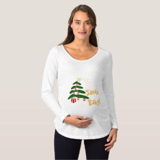 Abstract Christmas Tree Xmas Pregnancy Santa Baby Maternity T-Shirt