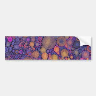Abstract Circle Pattern Bright Colors Bumper Sticker