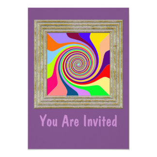 Abstract Circle Pattern Card