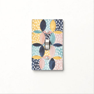 Abstract Circle Pattern Light Switch Cover