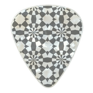 Abstract circle pattern pearl celluloid guitar pick