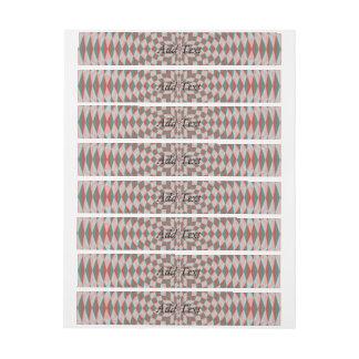 Abstract Circle Pattern Wraparound Address Label