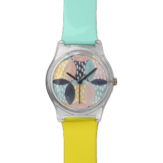 Abstract Circle Pattern Wrist Watch
