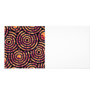 Abstract circle customized photo card