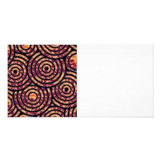 Abstract circle customized photo card