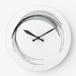 abstract circle round draw black white scrawl mode large clock