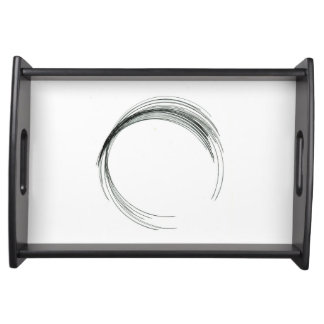 abstract circle round draw black white scrawl mode serving tray