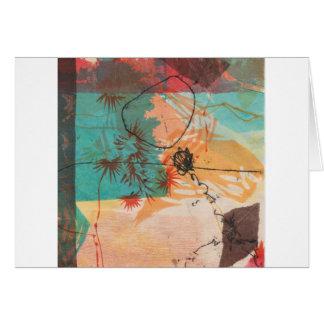Abstract Circle Shapes Printmaking Card