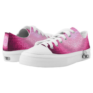 Abstract circle vitrage pink texture. Low-Top sneakers