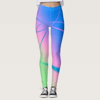 Abstract Circles And Lines Leggings