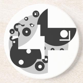 Abstract Circles Beverage Coaster
