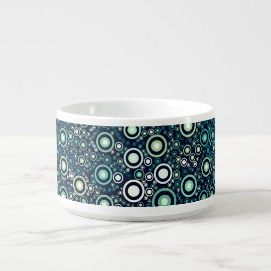 Abstract Circles Chili Bowl