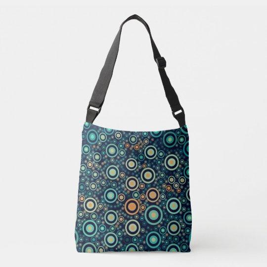 Abstract Circles Crossbody Bag