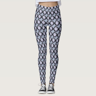 Abstract circles in blues leggings
