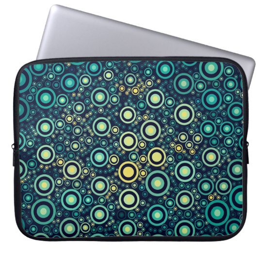 Abstract Circles Laptop Sleeve