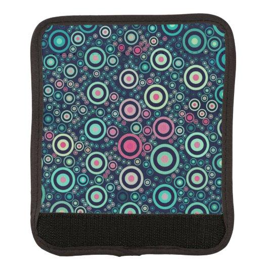Abstract Circles Luggage Handle Wrap