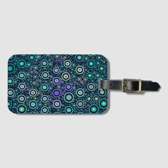 Abstract Circles Luggage Tag