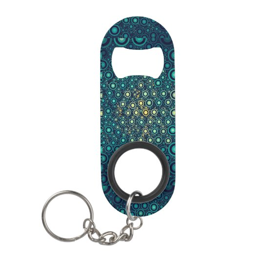 Abstract Circles Mini Bottle Opener
