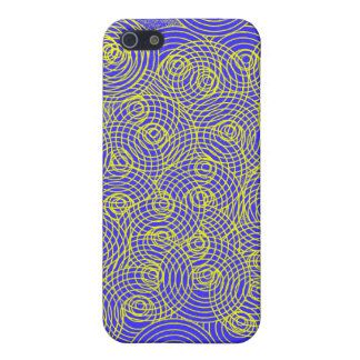 Abstract Circles, No 2 (blue) iPhone Case iPhone 5 Covers
