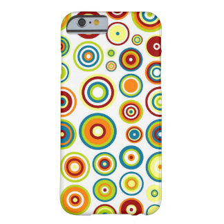 Abstract Circles Pattern   Orange Blue Lime Brown Barely There iPhone 6 Case