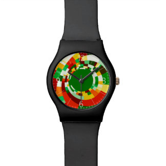 Abstract circles pattern wristwatches