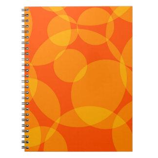 Abstract Circles Spiral Notebook