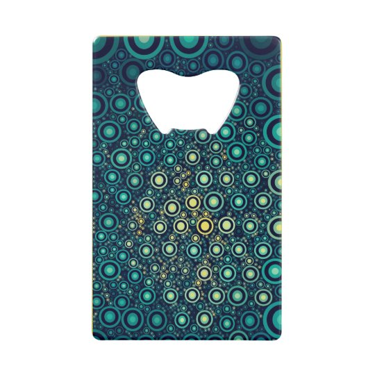 Abstract Circles Wallet Bottle Opener