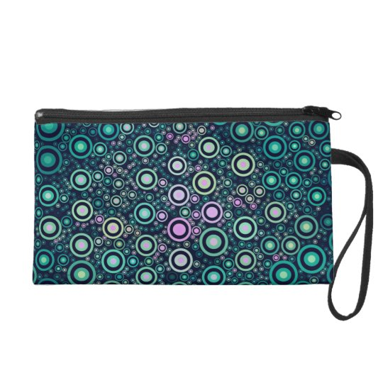Abstract Circles Wristlet Clutches