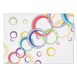 Abstract Circular Background Card