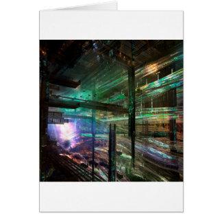 Abstract City Matrix City Card