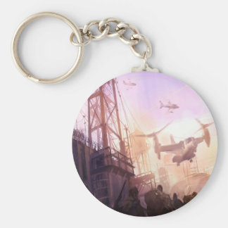Abstract City Security Key Chain