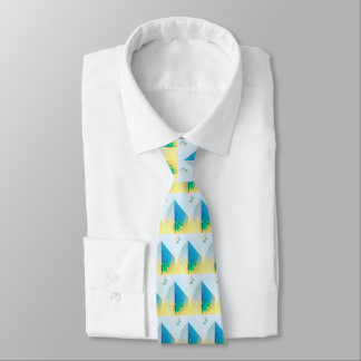 Abstract City Skyscraper Geometric Tie